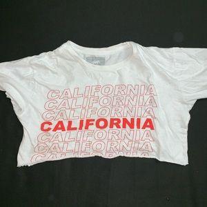 Tops - 'California' crop top